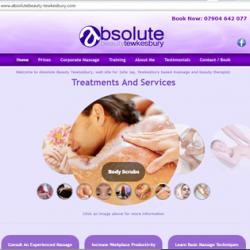 Absolute Beauty Tewkesbury Web Design Screen Shot