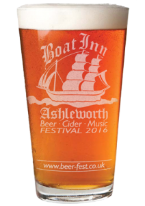 boat inn festival beer glass design proof